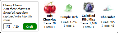 Cherry Charm Crafting